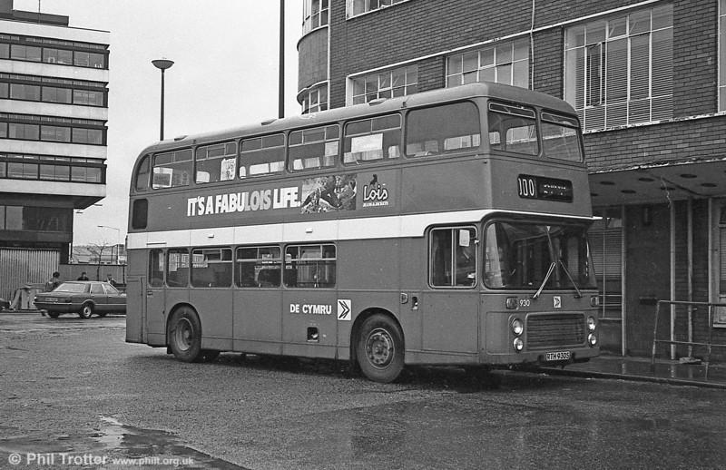 Bristol VRT SL3/ECW CO43/31F 930 (RTH 930S) at Cardiff.