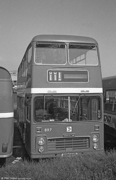 897 (WHN 411G), a Bristol VRT/ECW H39/31F, formerly United Auto 601, at Ravenhill.