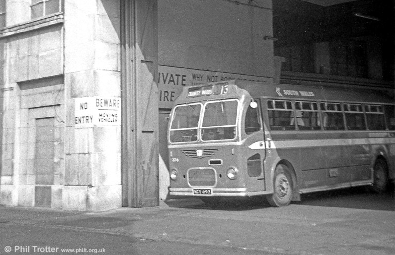 Bristol MW6G/ECW 376 (WCY 695) had started life as a coach, but had become B45F by the time this view was taken.