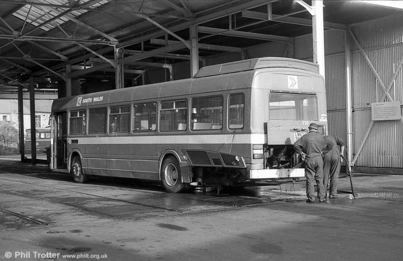 710 (LWN 710L), a Leyland National B52F seen at Llanelli.