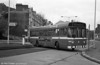 Wrong way! A driver attempts to correct a route error in Alexandra Road, Swansea. 742 (TWN 741N), a Leyland National B52F at Swansea