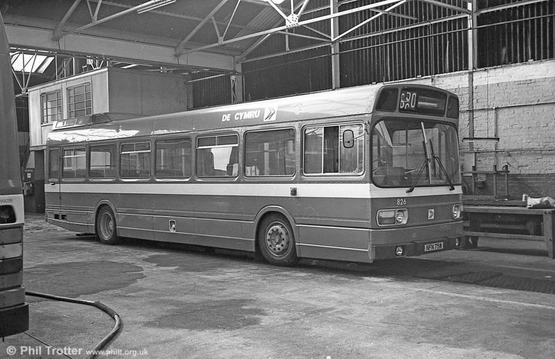 Leyland National B52F 826 (NFN 75M), ex-East Kent 1075 at Gorseinon.