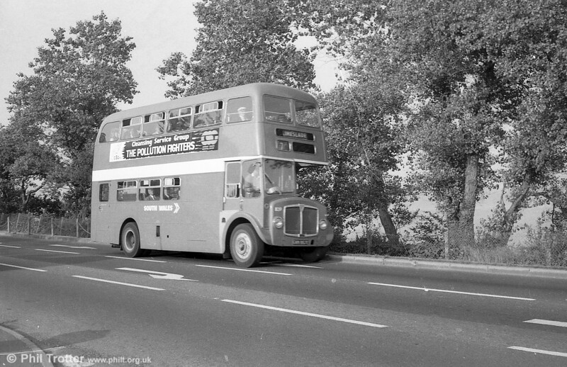AEC Regent V/Willowbrook H37/27F 839 (GWN 867E) on Mumbles Road on 28th July 1973.