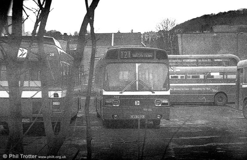 Leyland National/B52F 702 (LWN 702L) at Pontardawe.