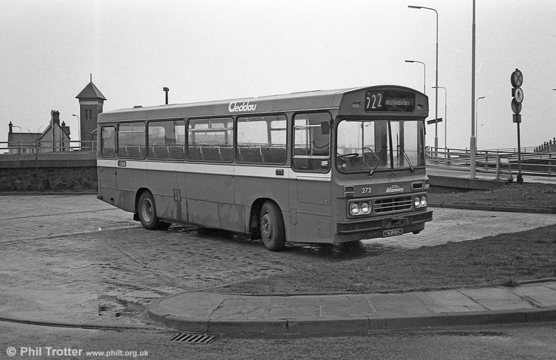The only Ford R1014 still operational at the end of July 1982 was 272 (NCY 272R) operating from Port Talbot; this was the bus exhibited at the 1976 Motor show. With the withdrawal of 272, Port Talbot became the first depot to have an allocation of Leyland Nationals only.