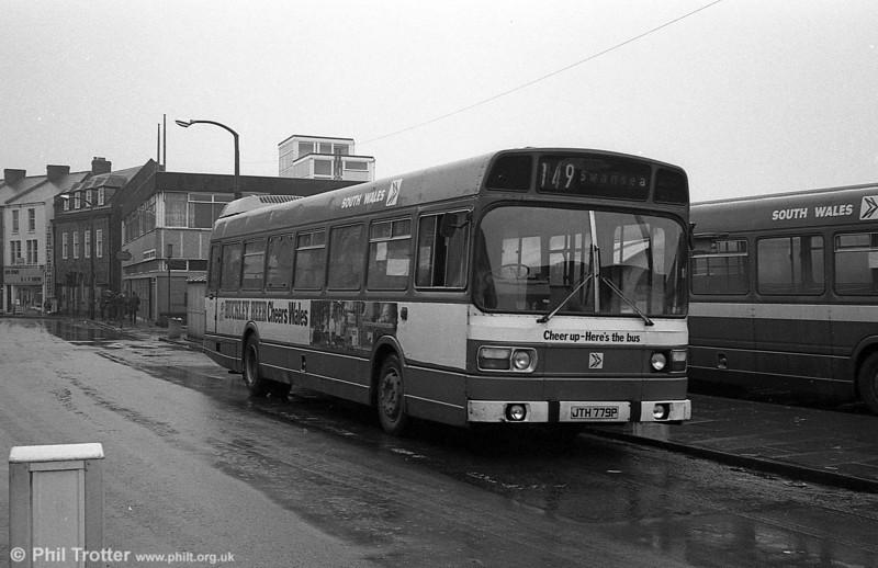 779 (JTH 779P), a Leyland National B52F at Neath.