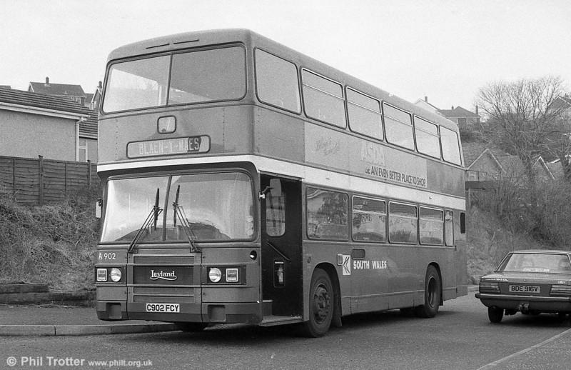 902 (C902 FCY) a 1985 Leyland Olympian/ECW H45/30F.