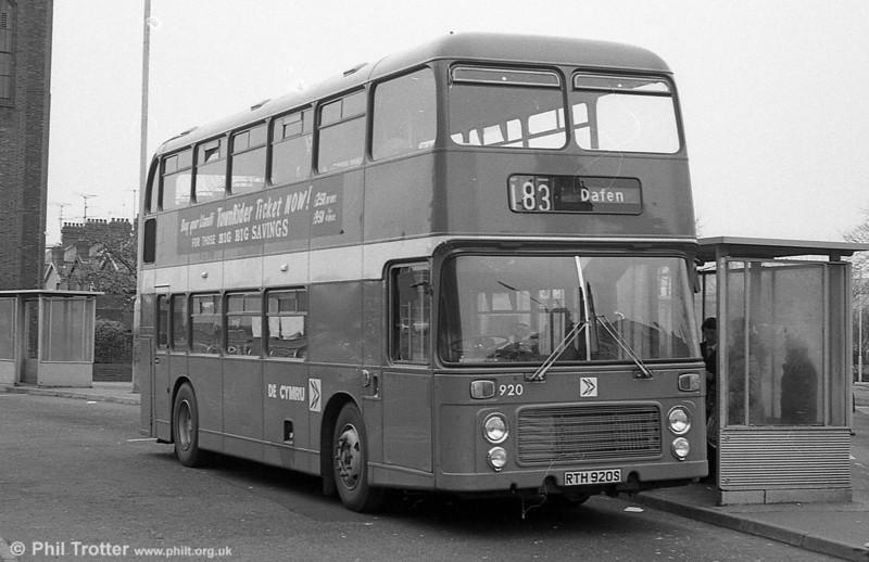Bristol VRT SL3/ECW H43/31F 920 (RTH 920S) at Llanelli.