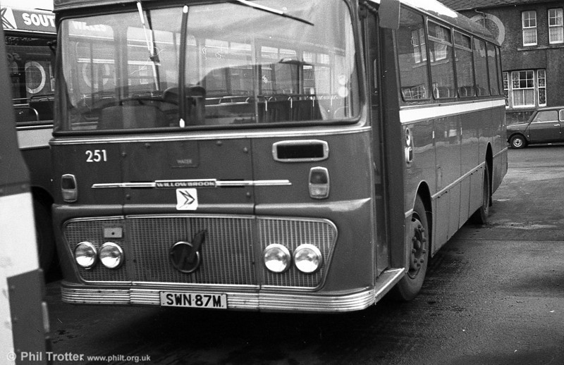 Ford R1014/Willowbrook B45F 251 (SWN 87M ) at Gorseinon.