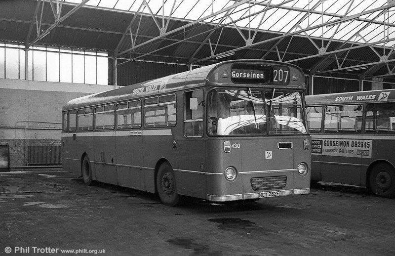 AEC Reliance/Willowbrook B53F 430 (ex-1951) (NCY 282F)  at Gorseinon.