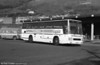 128 (B128 CTH), a 1985 Leyland Tiger/Duple Caribbean 2 C48FT at Port Talbot.