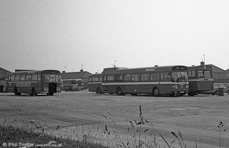 Leyland National B52F 833 (NPD 165L), ex-London Country LNB65 at Port Talbot.