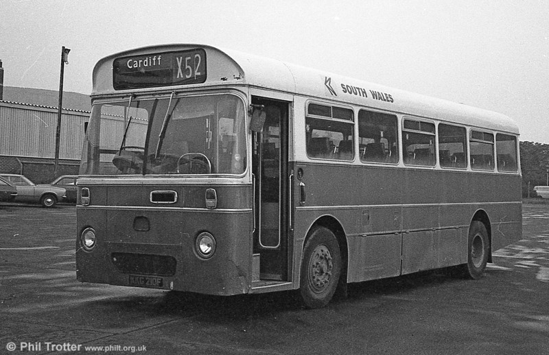 AEC Reliance/Marshall DP41F 210 (KKG 210F), ex-Western Welsh.