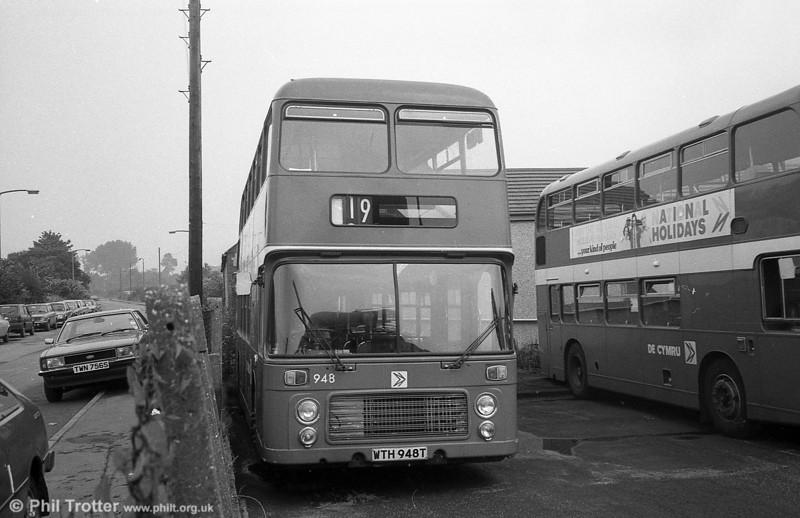 Bristol VRT SL3/ECW H43/31F 948 (WTH 948T) at Pontardawe.