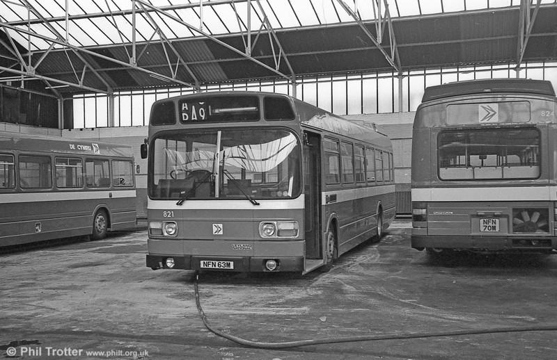 Leyland National B52F 821 (NFN 63M), ex-East Kent 1063 at Gorseinon.