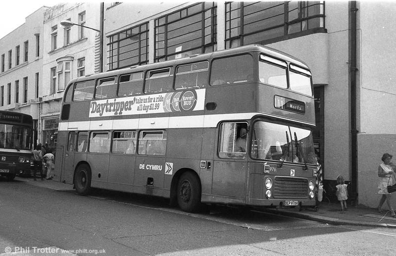 Bristol VRT SL3/ECW H43/31F 976 (BEP 976V) at Llanelli.