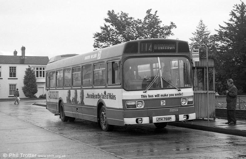 Leyland National B52F 768 (JTH 768P) at Gorseinon.