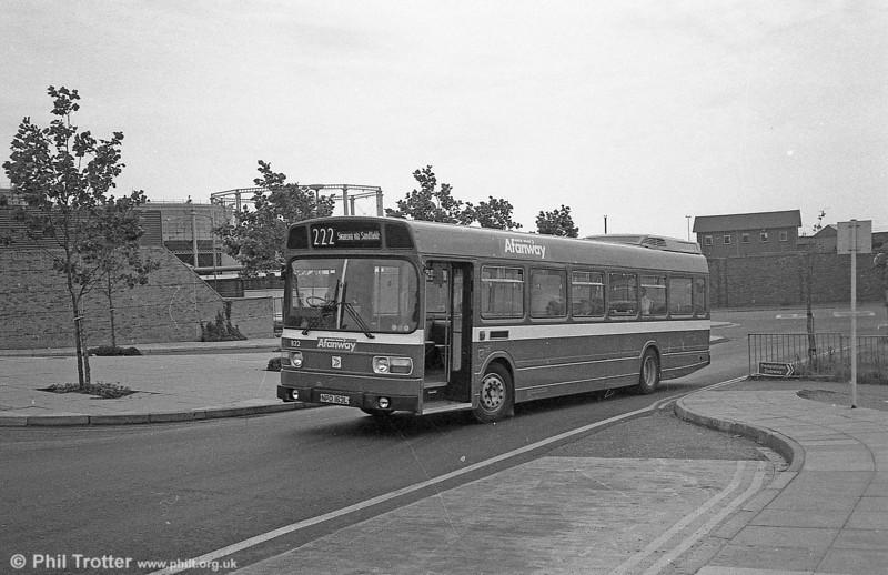 Leyland National B52F 832 (NPD 163L), ex-London Country LNB63 at Swansea.