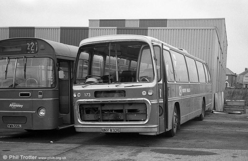 AEC Reliance/Plaxton C51F 173 (UNY 832G), ex Neath & Cardiff Luxury Coaches Ltd.