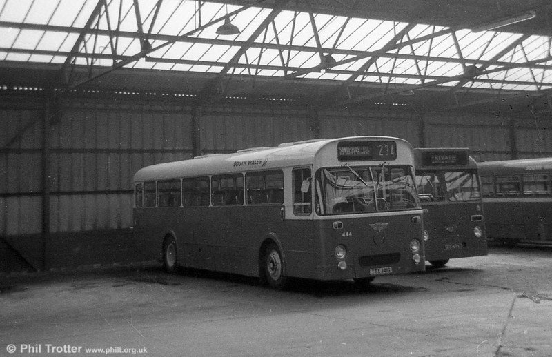 1969 AEC Reliance/Marshall DP49F  444 (TTX 141G), new to Thomas Bros., Port Talbot.