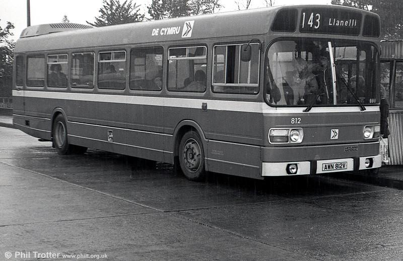 Leyland National/B52F 812 (AWN 812V) at Gorseinon.