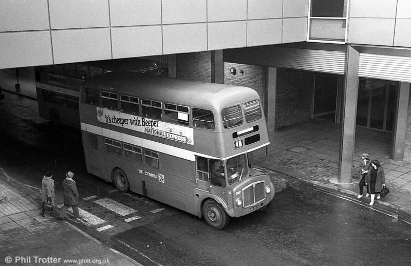 AEC Regent V/Willowbrook H37/27F 889 (GWN 867E) at Swansea.