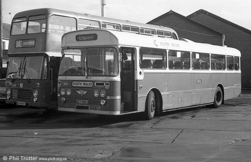 461 (UCY 980J) an AEC Reliance/Plaxton Derwent DP49F ex-N&C at Llanelli.