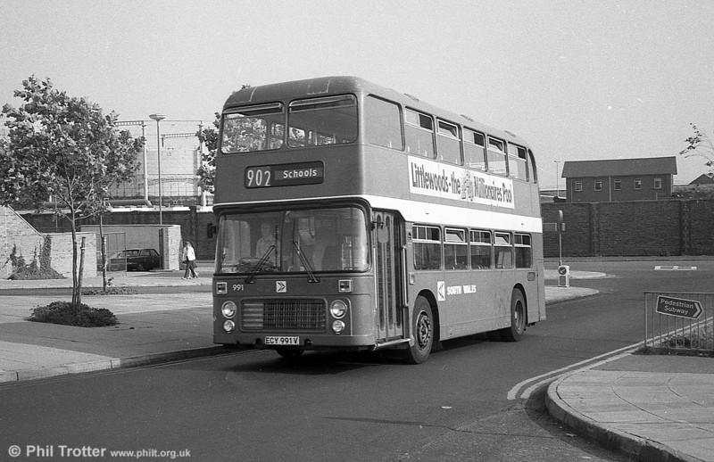 Bristol VRT 991 (ECY 991V) with ECW H43/31F at Swansea.