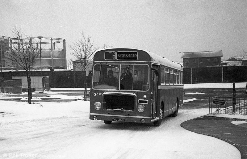 357 - formerly Bristol 505 -  (THU 351G), a Bristol RESL6L /ECW B43F.