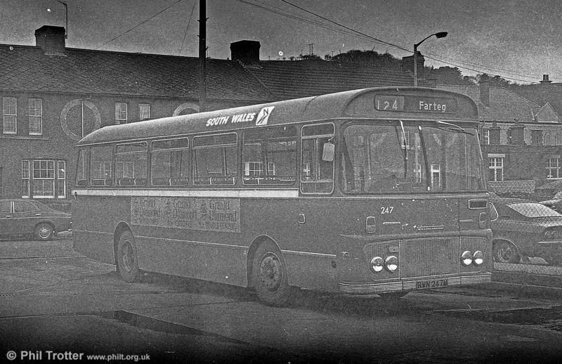 Ford R1014/Willowbrook B45F 247 (RWN 247M) at Gorseinon.