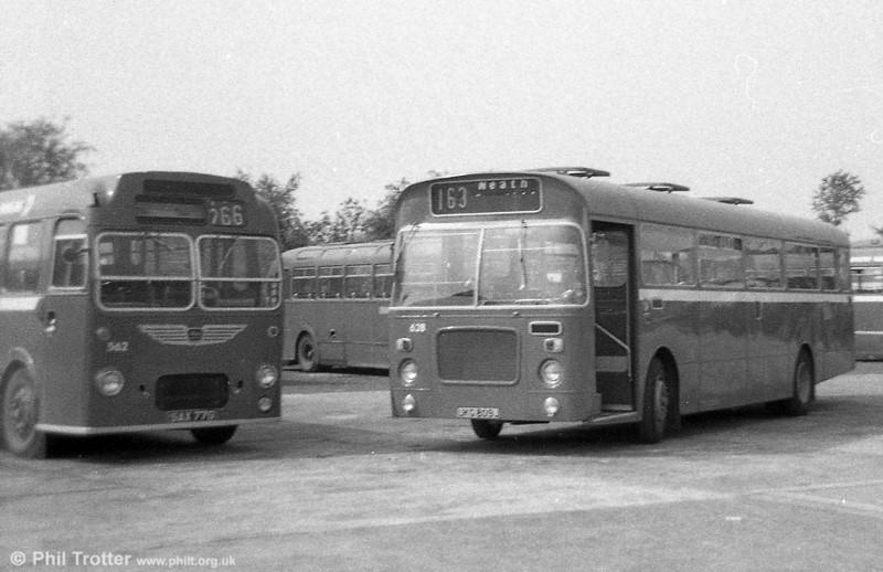 Bristol RELL6L/Marshall B51F 628 (UKG 809J) at Neath Abbey.
