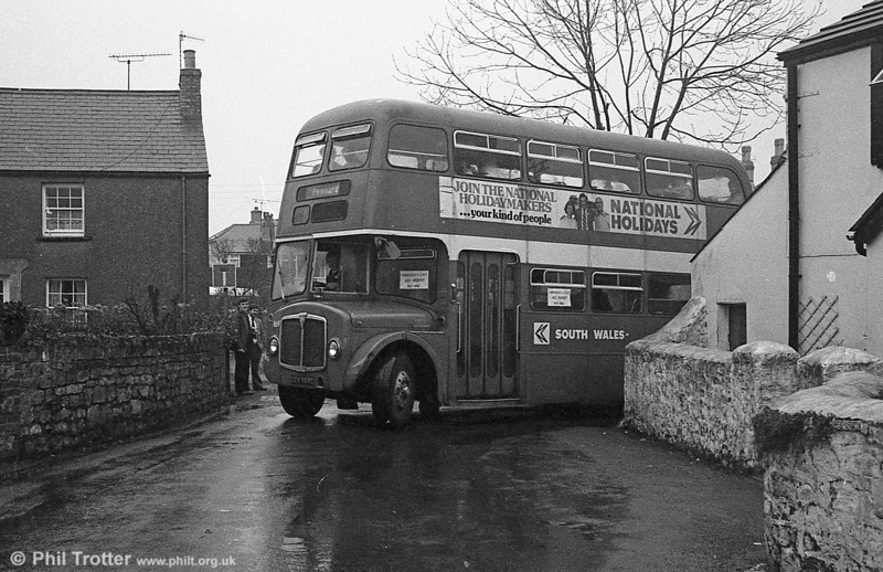 AEC Regent V/Willowbrook H37/27F 869 (CCY 989C) at Murton during the final tour of February 27th 1982.