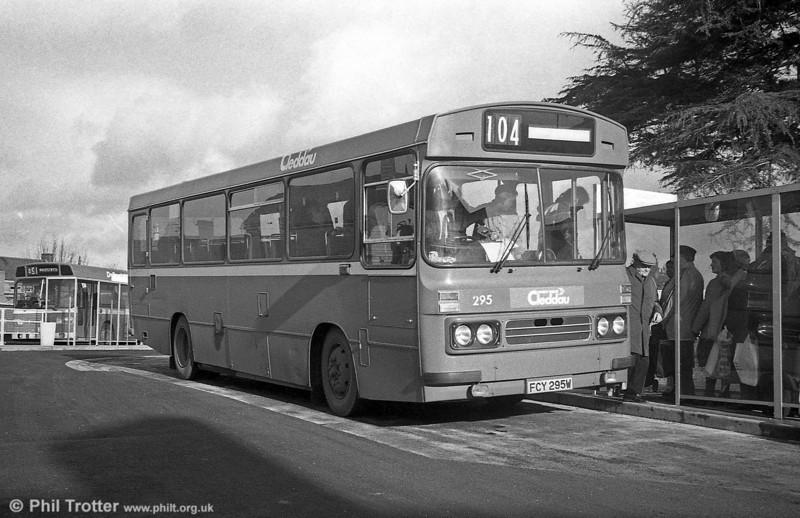 1981 Bedford YMQ/Duple B43F 295 (FCY 295W) at Ammanford.