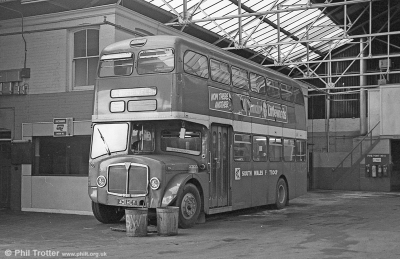 1964 AEC Regent V/Park Royal H39/32F 598 (431 HCY) in use as staff accomodation at Gorseinon.