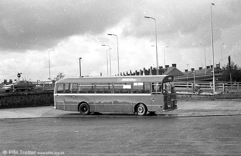 A Ford R1014/Willowbrook B45F at Port Talbot.