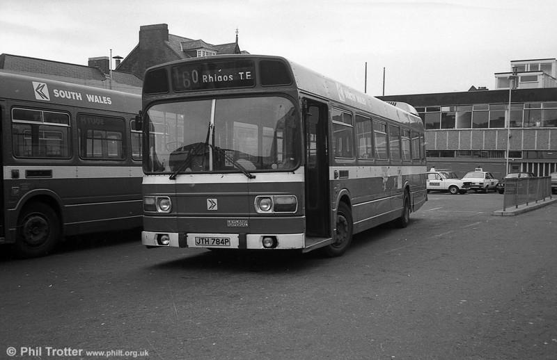 Leyland National B52F 784 (JTH 784P) at Neath.