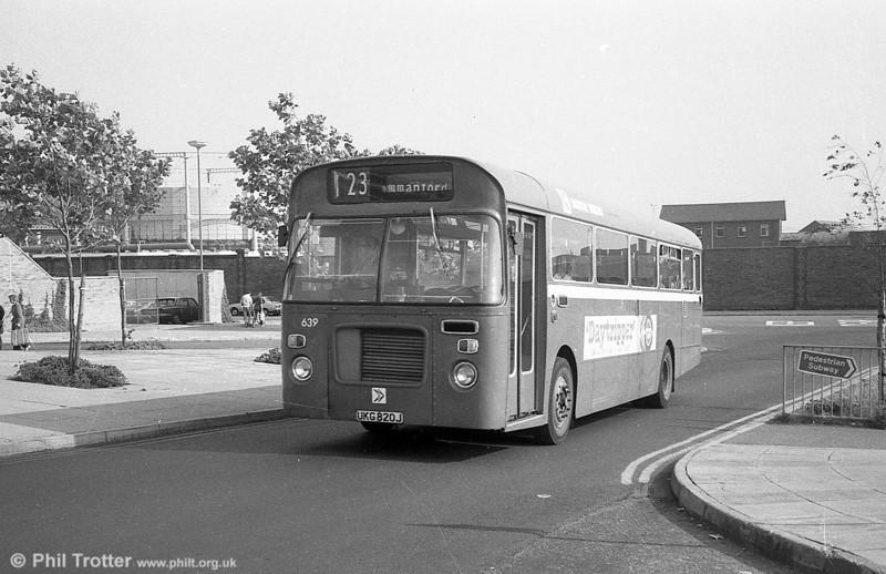 Bristol RELL6L/Marshall B51F 639 (UKG 820J) at Swansea.