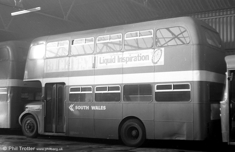 AEC Regent V 884 (GWN 862D) in store at Ammanford depot.