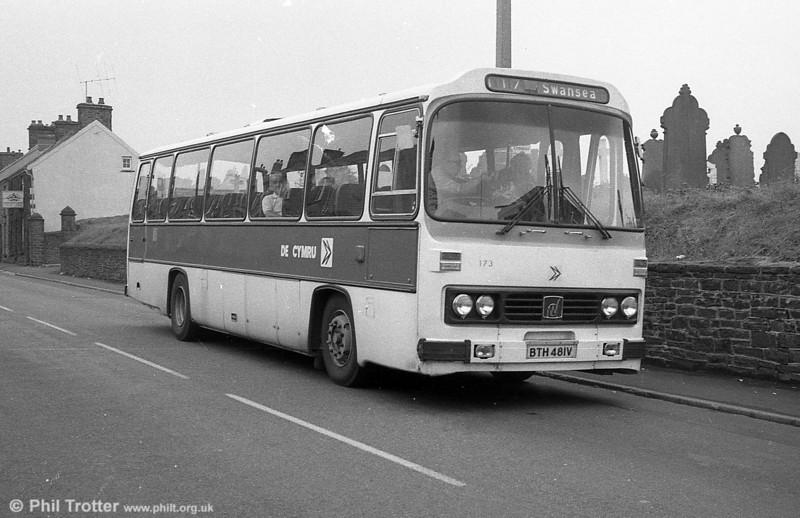 173 (BTH 481V), a Leyland Leopard/Willowbrook DP51F.