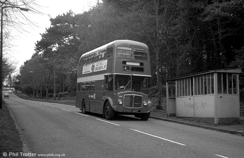 AEC Regent V/Willowbrook H37/27F 861 (CCY 981C) at Mayals.