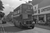 AEC Regent V/Willowbrook H37/27F 886 (GWN 864D) in St. Helens Rd., Swansea during a traffic diversion.