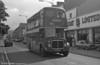 AEC Regent V/Willowbrook H37/27F 886 (GWN 864D) in St. Helens Rd., Swansea during a traffic diversion.