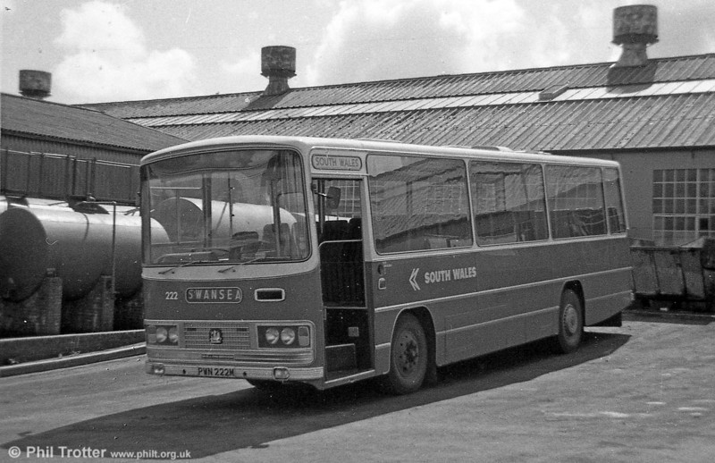 Bedford YRQ/Willowbrook DP45F 222 (PWN 222M) at Ravenhill.