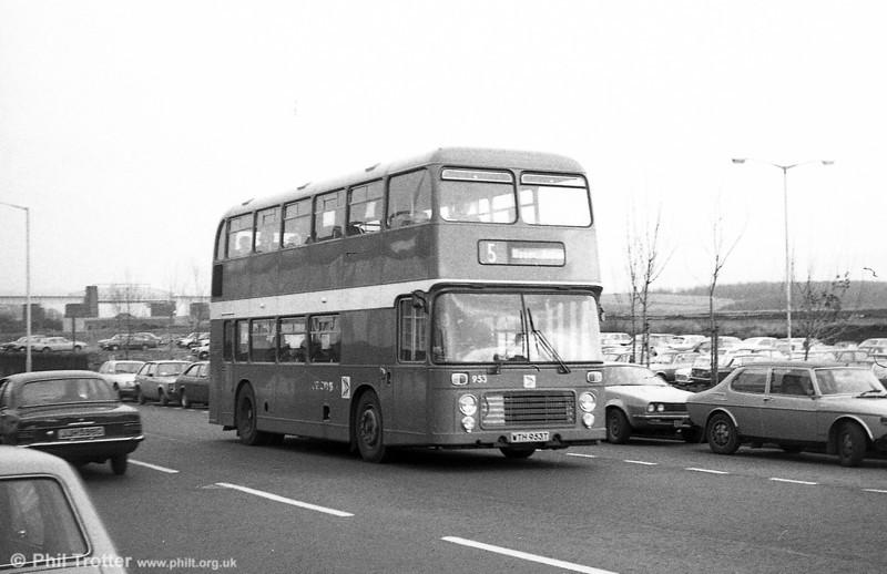 Bristol VRT SL3/ECW H43/31F 953 (WTH 953T) at Swansea.