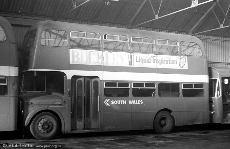 A second view of AEC Regent V 884 (GWN 862D) in store at Ammanford depot.