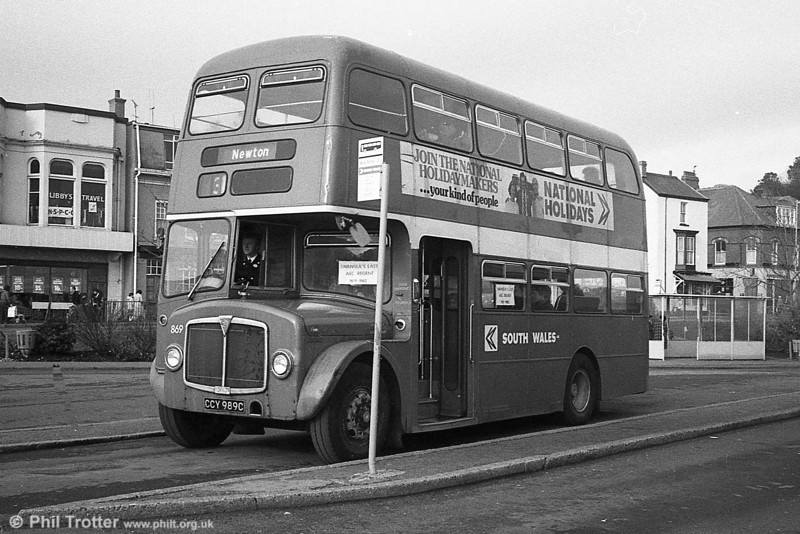 On February 27 1982, 869 operated a series of morning duplicate journeys on various routes and in the evening worked scheduled services on routes 2/3 for the last time, arriving back at the Quadrant at around 11.20pm. Special tickets were on sales for enthusiasts.