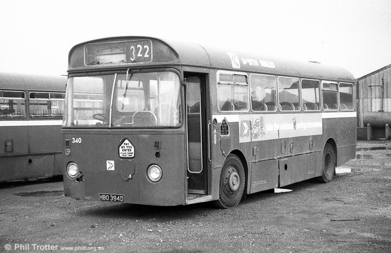 Leyland Leopard PSUC1/Marshall B43F 340 (HBO 394D), ex-Western Welsh.