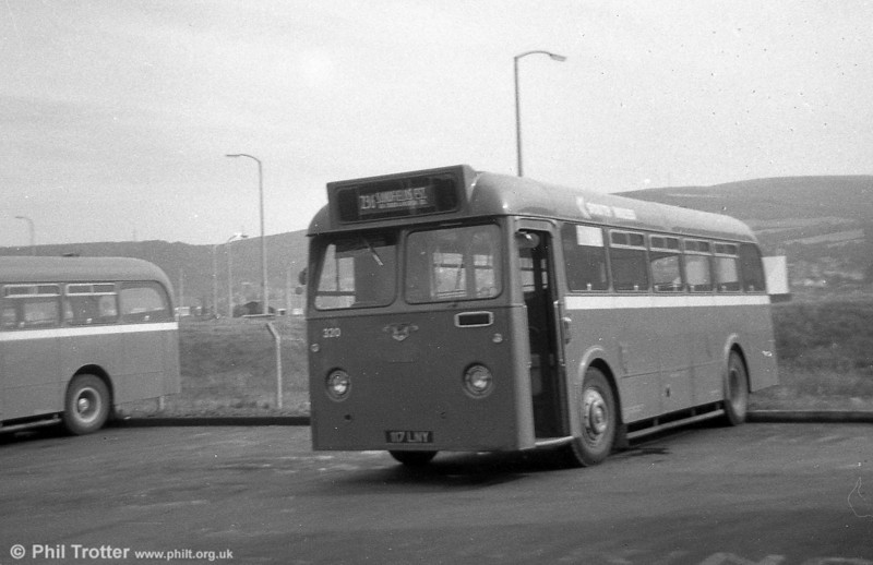 320 (117 LNY), a Leyland Tiger Cub / Park Royal B45F, ex-Thomas Bros., Port Talbot.