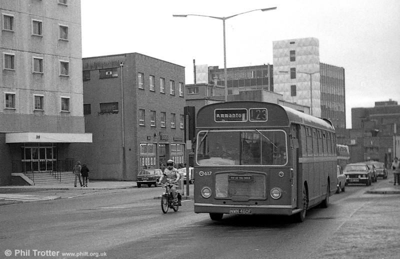 Bristol RELL6G/ECW B53F 617 (NWN 460F) at Swansea.