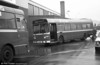 Leyland National/B52F 808 (WWN 808T) receives attention at Clarence Terrace.